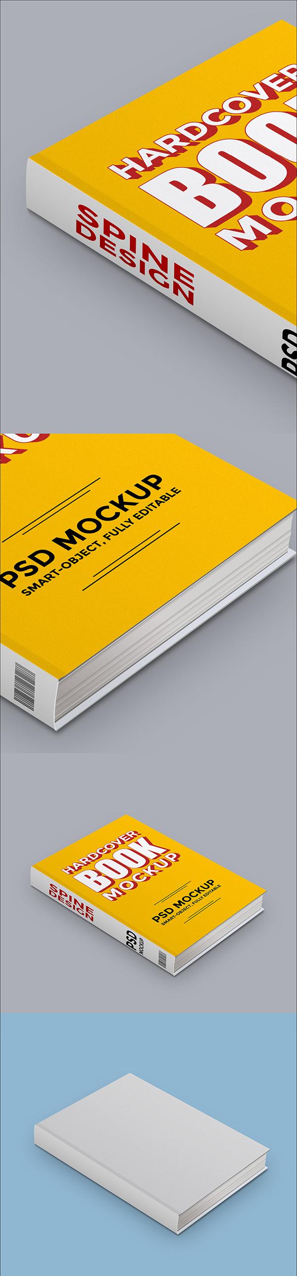 05 Hardcover Book PSD Mockup