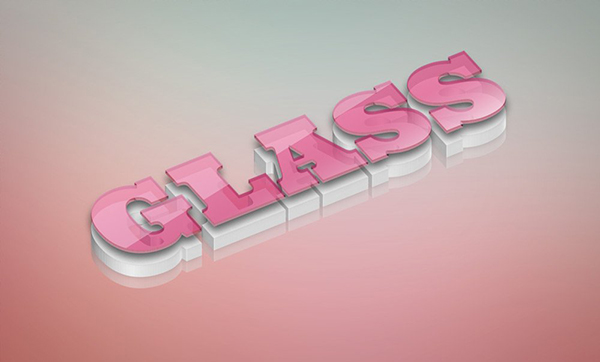 06 Glass Text Style PSD