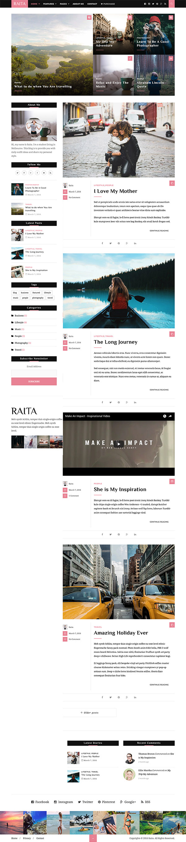 07 Raita - Minimal WordPress Theme for Writers