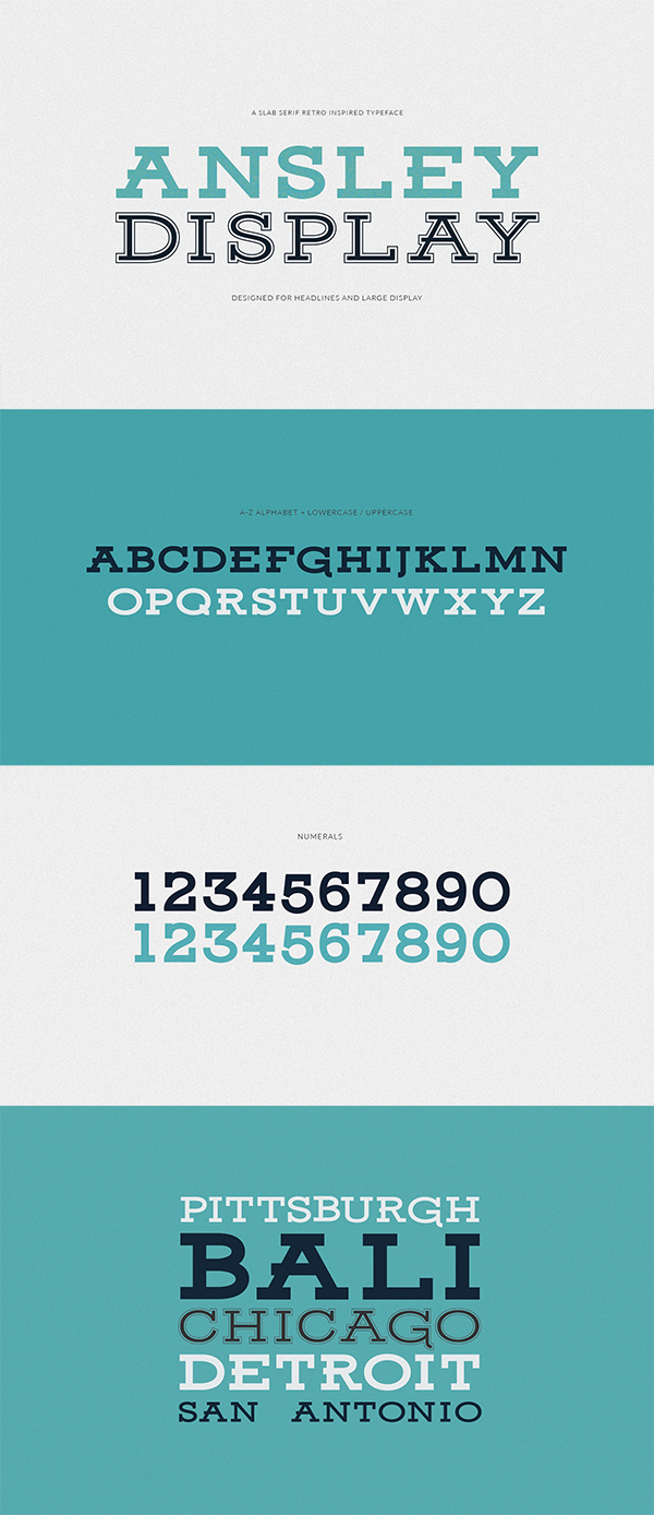 09 Ansley Display Free Font