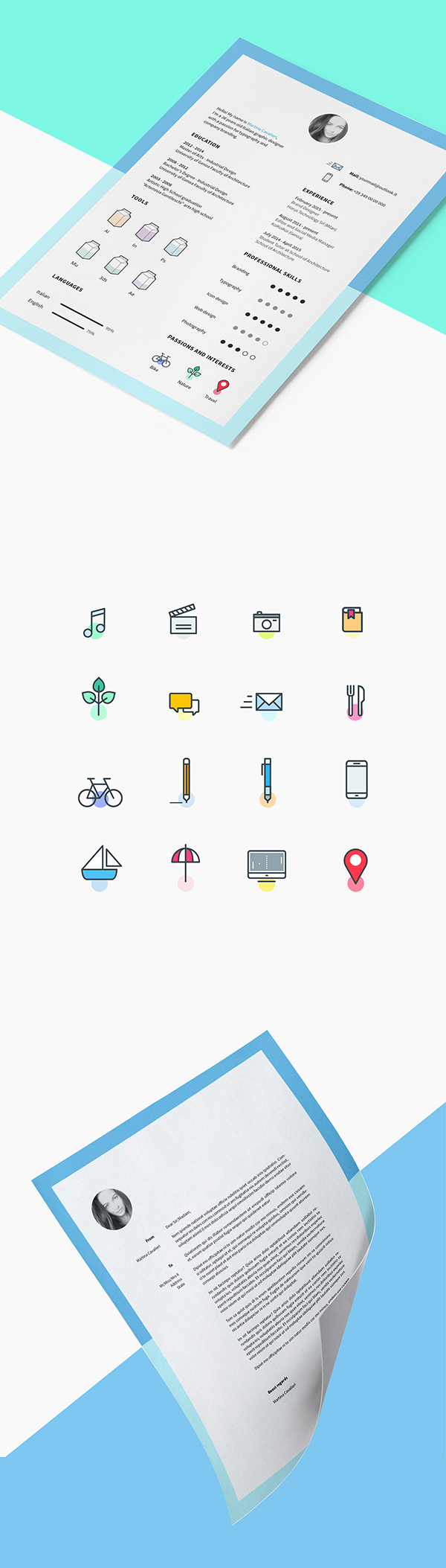 10 Free Cv and Icons for Free