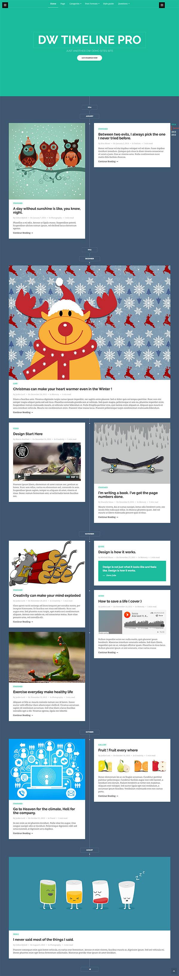 12 DW Timeline Pro - Reponsive Timeline WordPress Theme