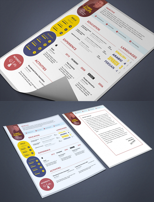 13 Free PSD Resume and Cover Letter Template