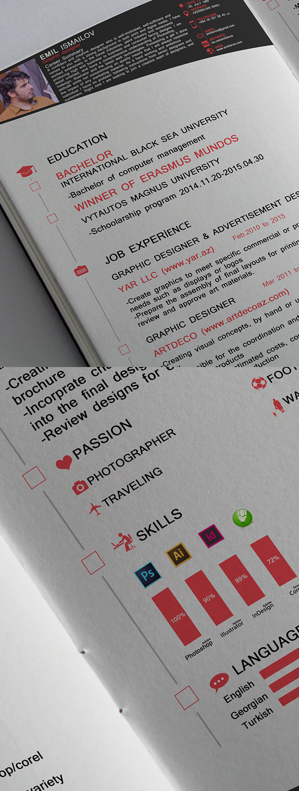 14 Free CV FREE Resume Template 2016 (3 Pages)