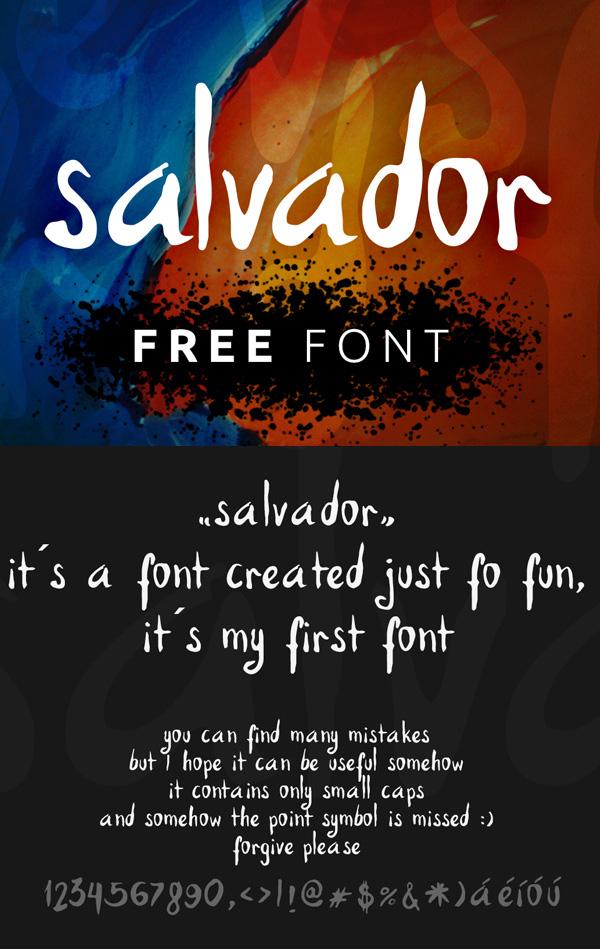 14 Salvador Hand v1 Free Font