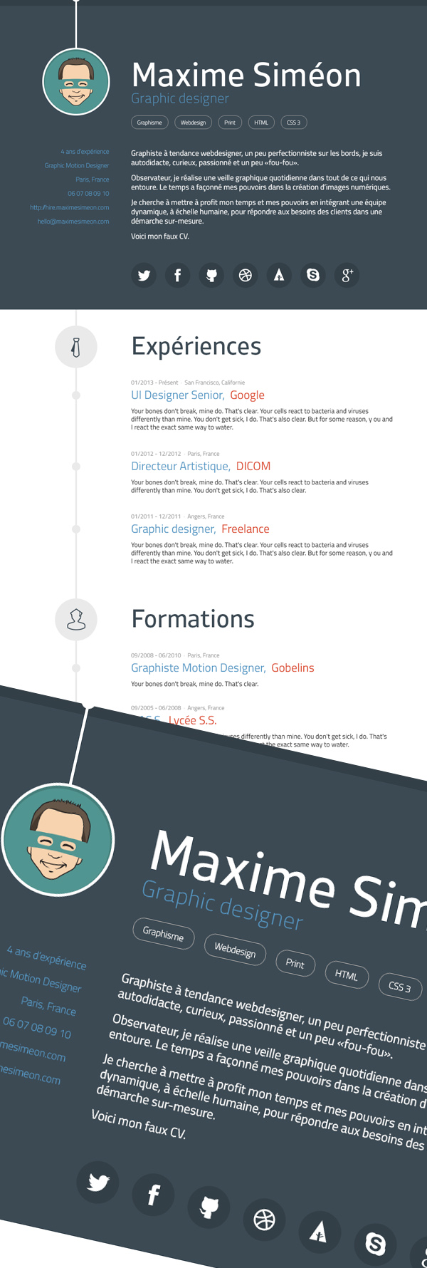 15 Free Modern Graphic Design Resume Template
