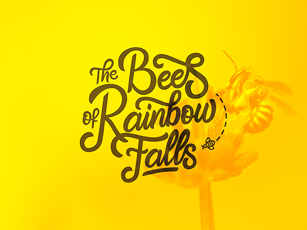 16 Logo for %22The Bees of Rainbow Falls%22