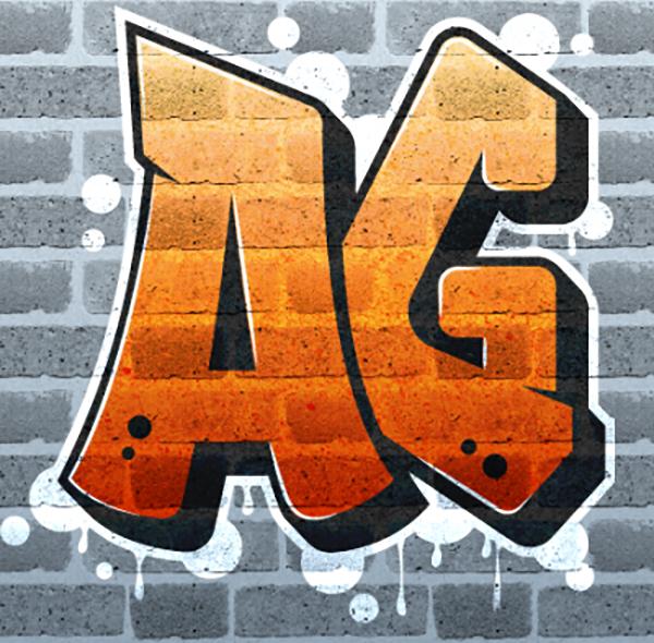 17 Create Graffiti Logo on Brick Wall with Texture in Illustrator
