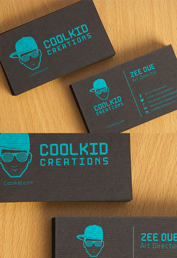 17 Free Black Textured Business Card Design