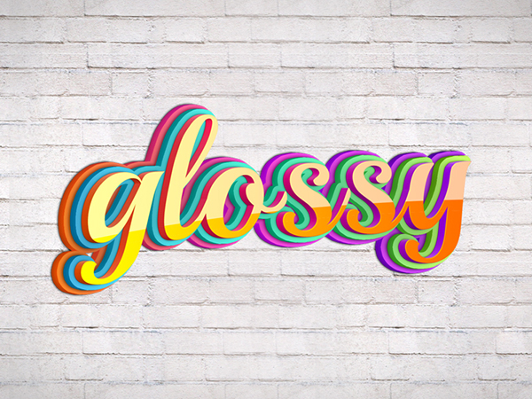 18 Glossy Text Style