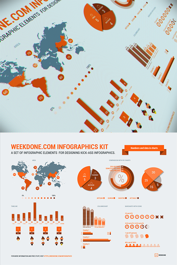19 Weekdone infographics kit