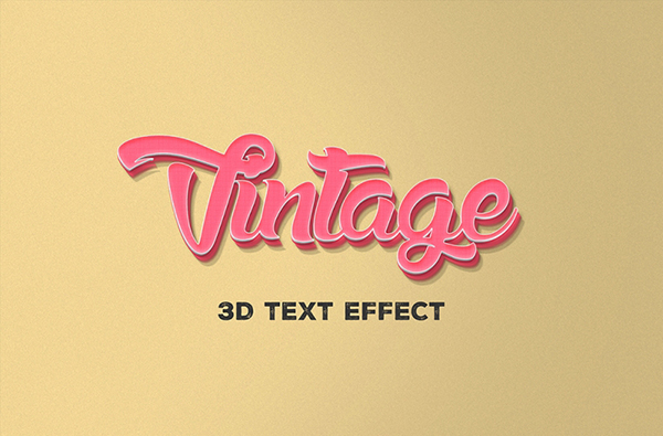 21 Free PSD 3D Text Effect