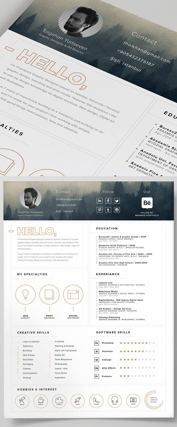 23 Free Resume Template and Icons (PSD)