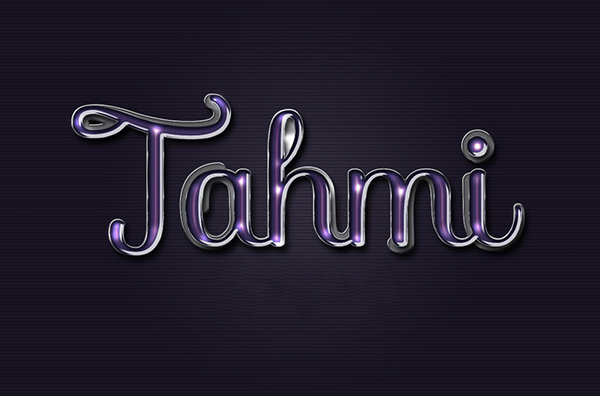 23 Violet glossy text effect free psd