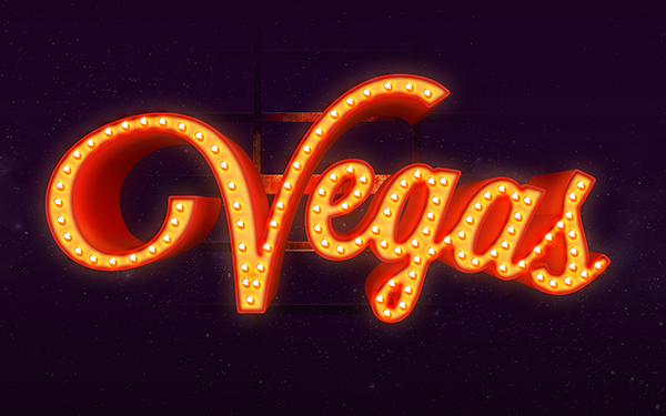 25 Vegas Text Effect