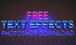 35 Latest Free Photoshop Text Effects