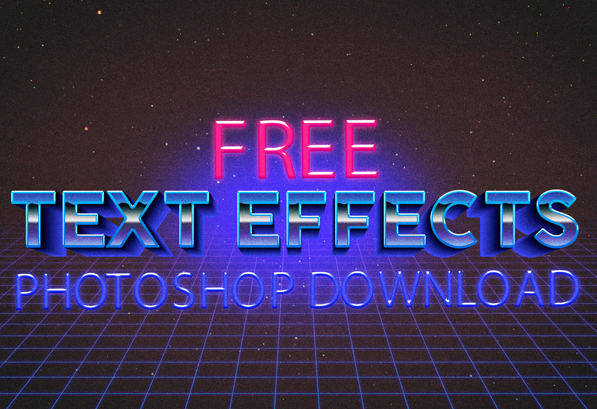 35 Latest Free Photoshop Text Effects | Design Slots