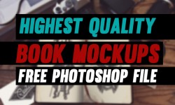 23 New Highest Quality Photoshop Free PSD Book Mockups