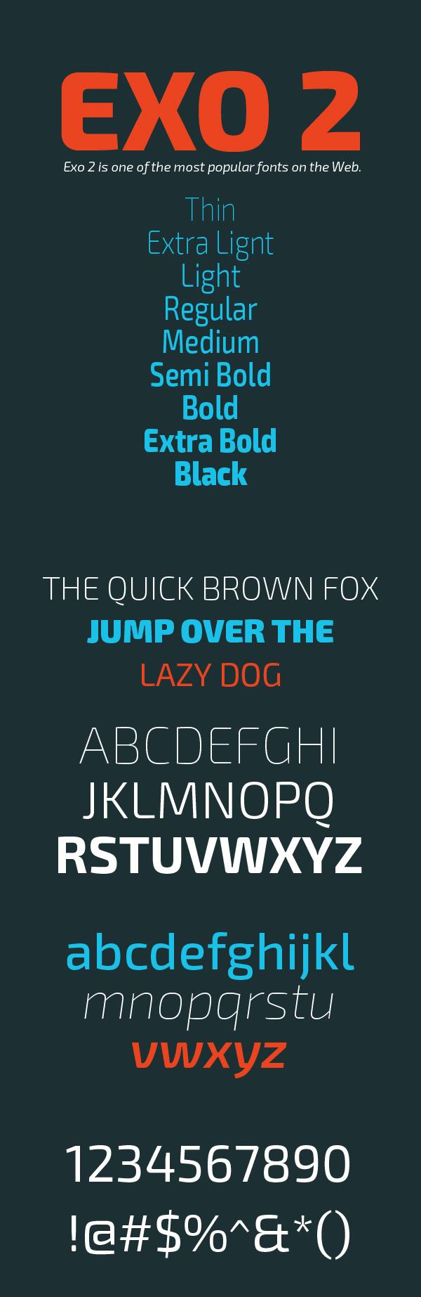 01 Exo 2 Free Font
