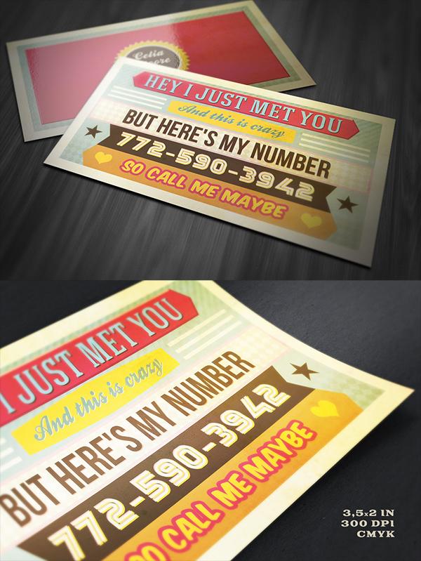 01 Funny Retro Business Card