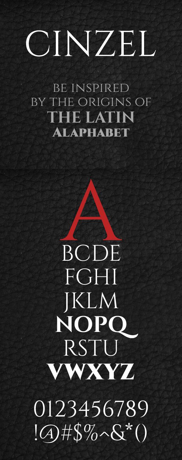 02 Cinzel Free Font