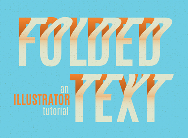 02 How to create a folded text effect in Illustrator