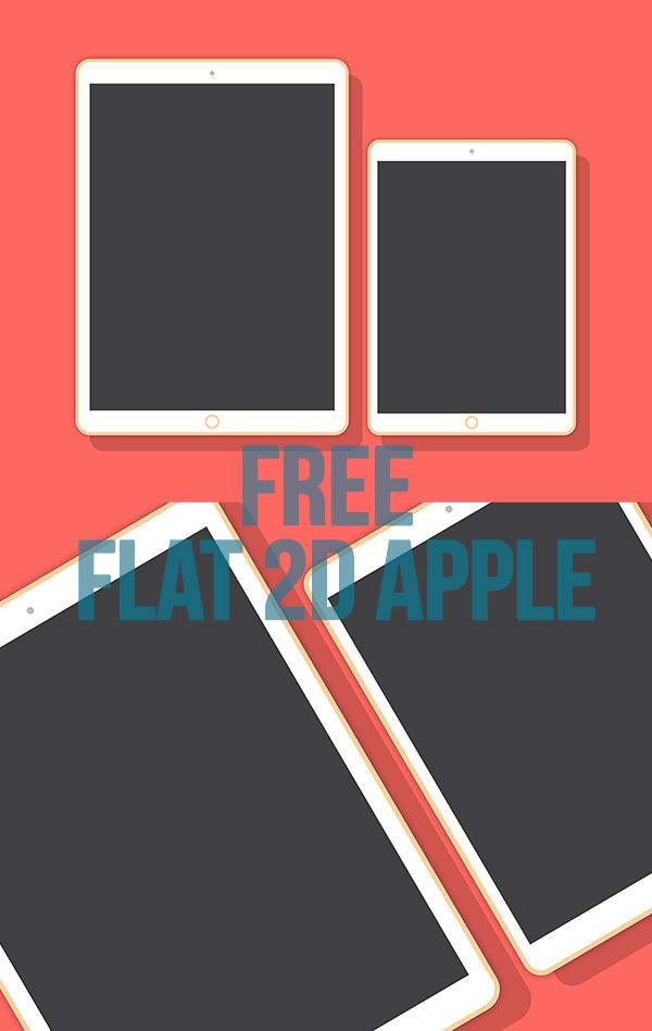 04 Free Flat 2D Apple