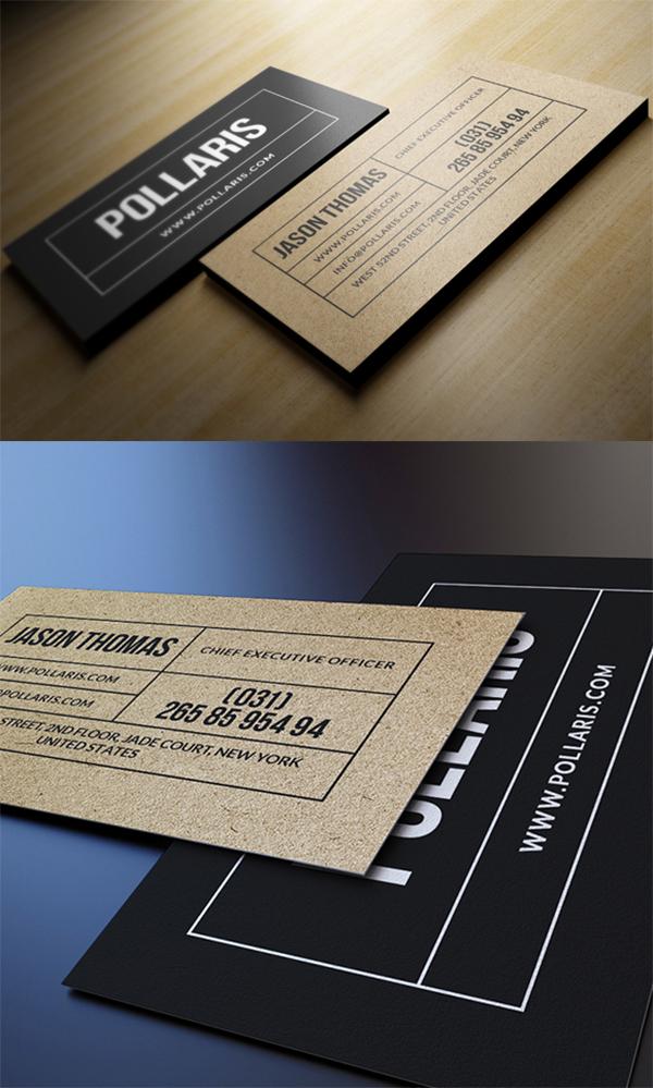 04 Kraft Paper Business Card