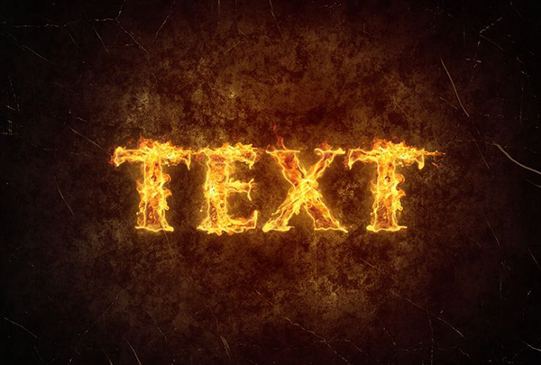 07 Create a Simple Fiery Text Effect in Photoshop