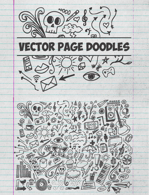 07 Vector Page Doodles Graphics