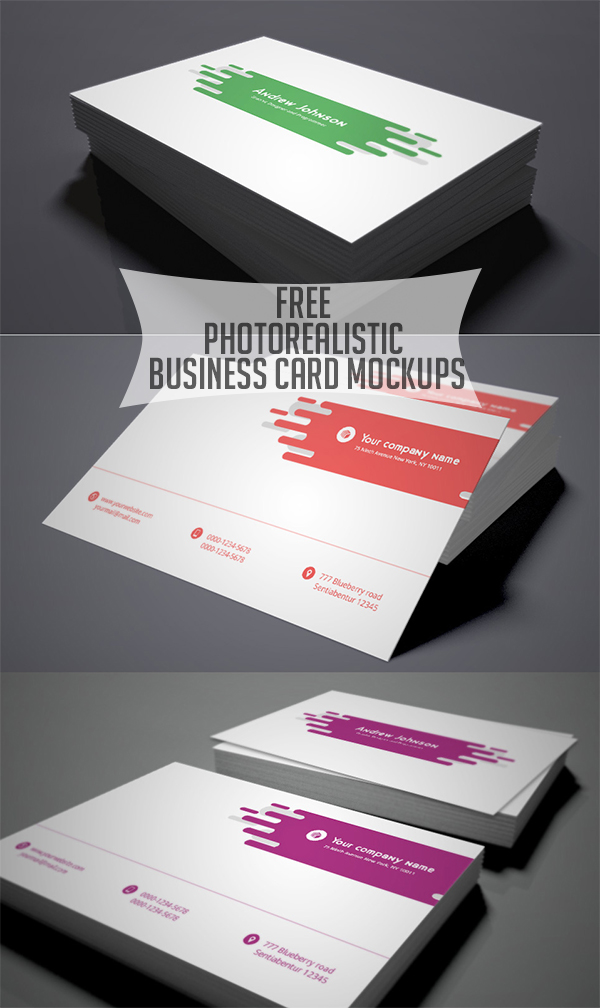 09 Free photorealistic business card mockups
