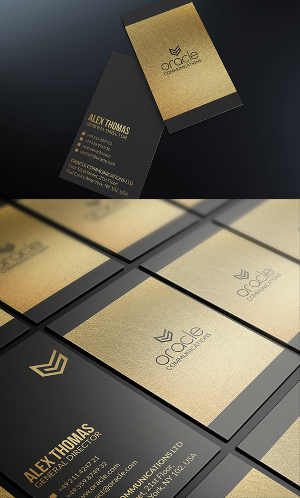 10 Premium Gold And Black Business Card