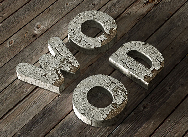 11 How to Create a 3D Chipped, Painted Wood Text Effect in Adobe Photoshop