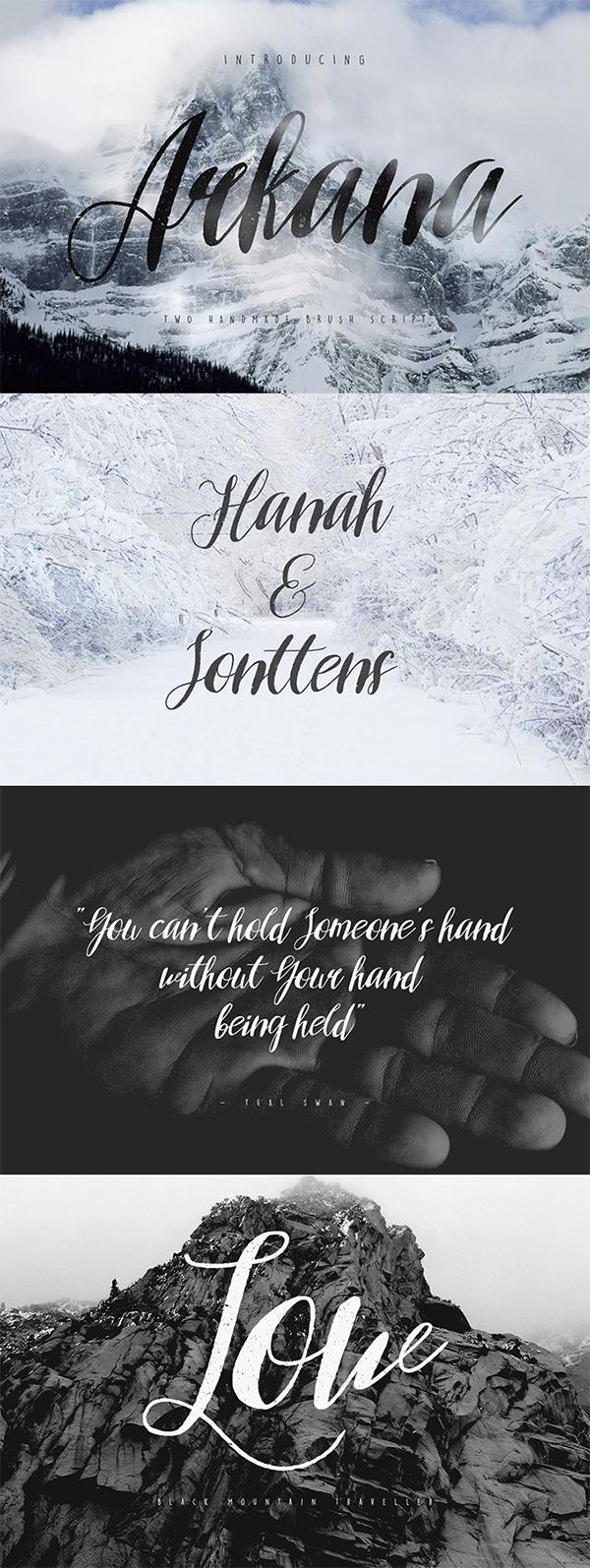 12 Arkana Script Vintage Free Font