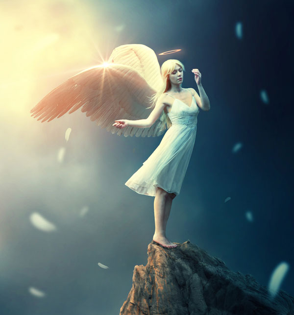 14. Create a Fantasy Angel Scene in Photoshop