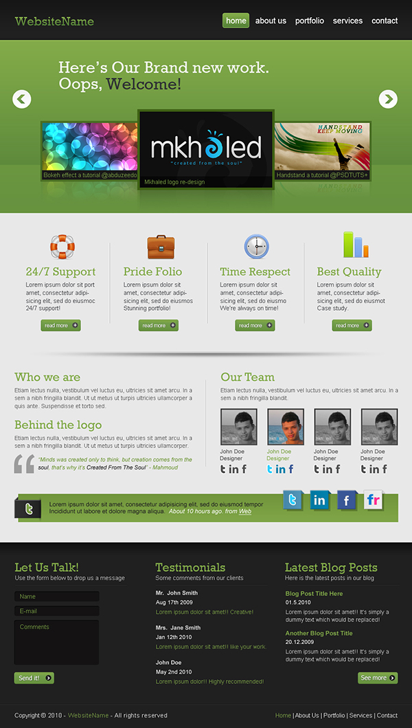 15 Create a Professional Web 2.0 Layout