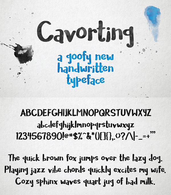 17 Cavorting Free Font