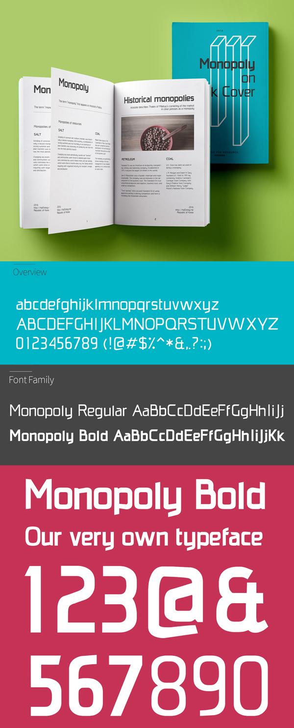 20 Monopoly Free Font