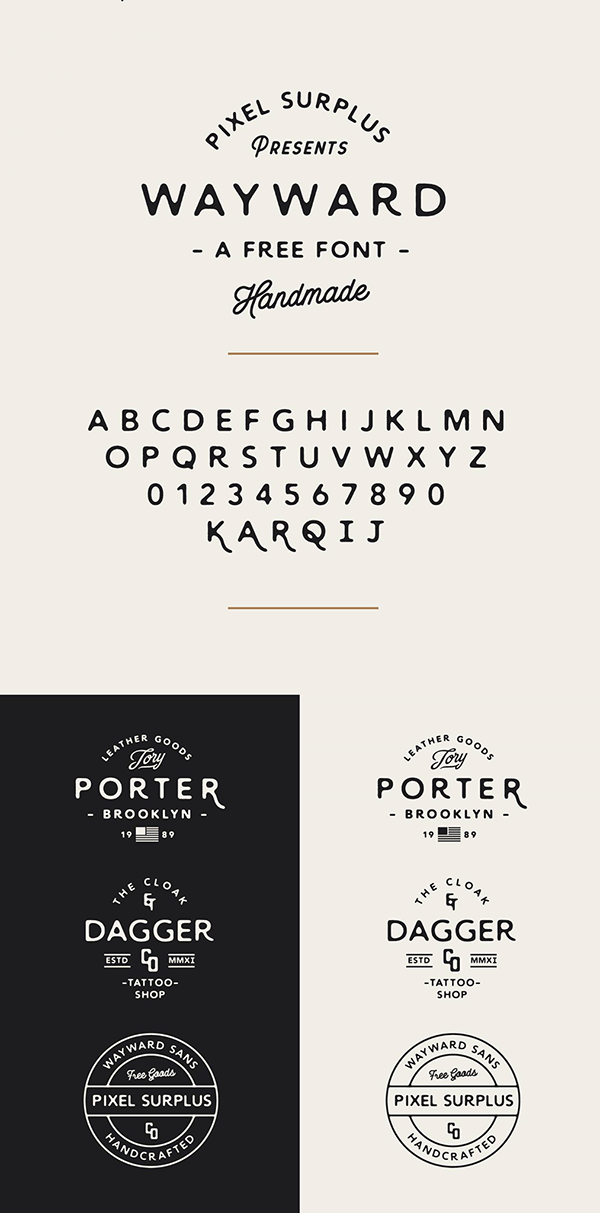 20 Wayward Free Font