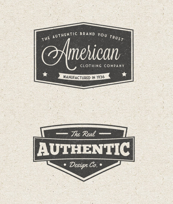 21 Free Vintage Label Vector Pack
