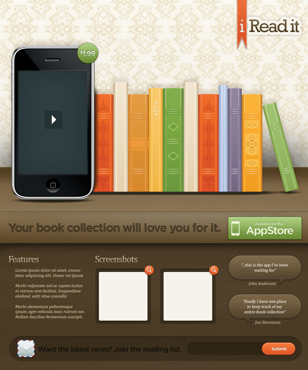 22 Create an Illustrative iPhone:iPad Landing Page in Photoshop