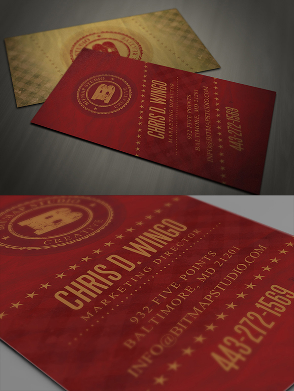 22 Retro Business Card Template