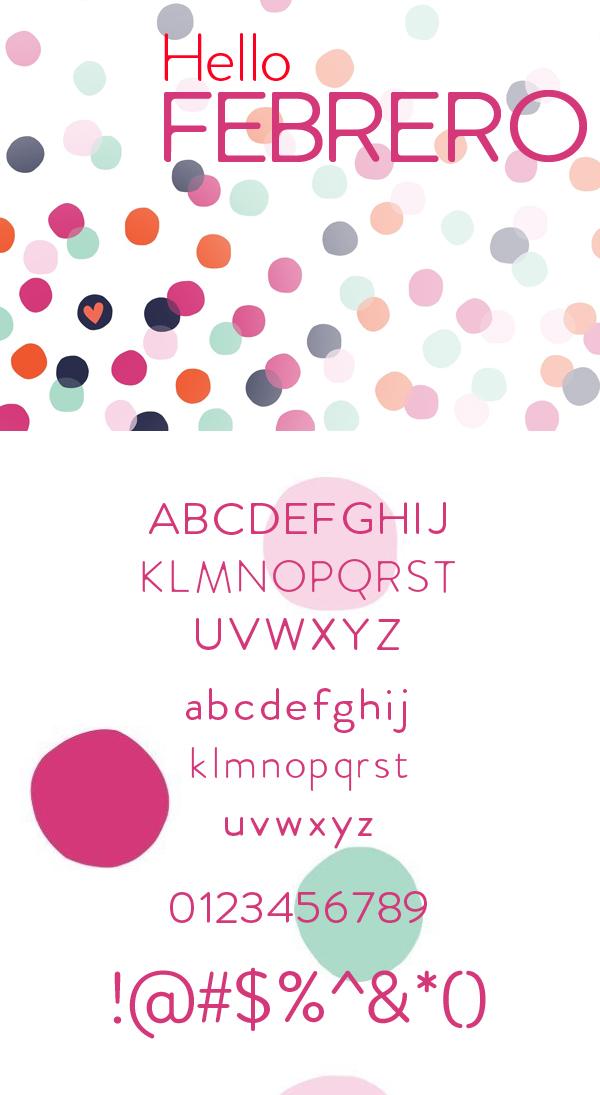 27 Febrero Free Font