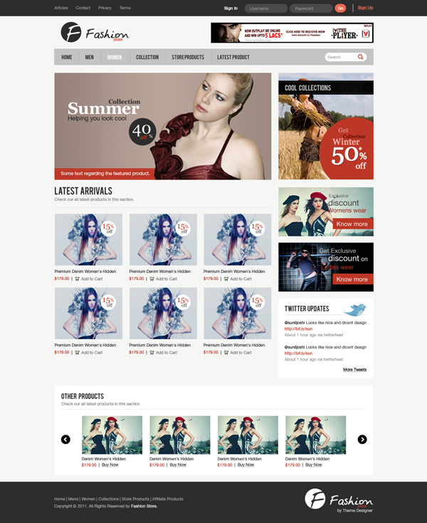 28 Design a Clean e-Commerce Website Interface in Photoshop