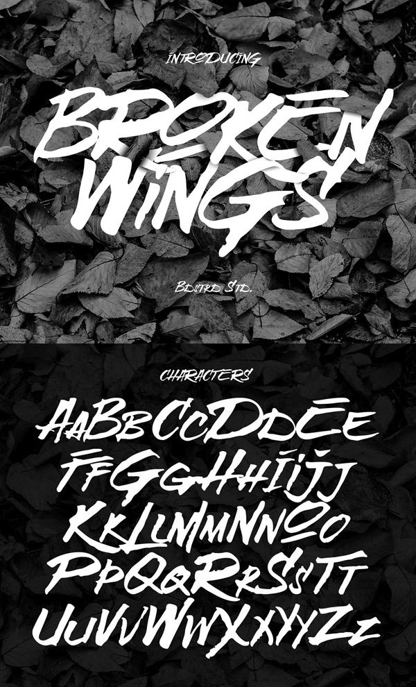29 Broken Wings Free Font