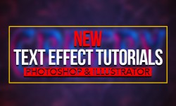 35 New Text Effect Photoshop & Illustrator Tutorials