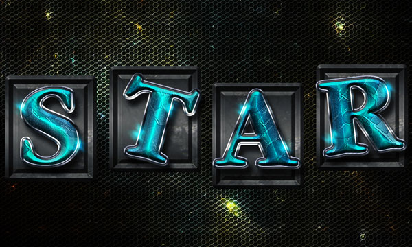 03 How to Create Space Tiles Text Effect in Photoshop