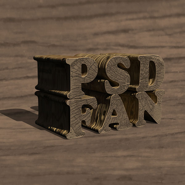05 Create a Textured Wooden Text Effect Using Photoshop's 3D Capabilities