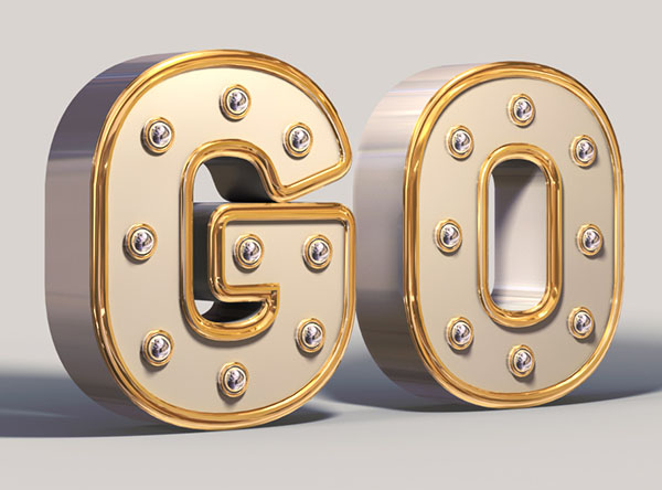 06 Create a Shiny, White and Gold, 3D Text Effect in Adobe Photoshop
