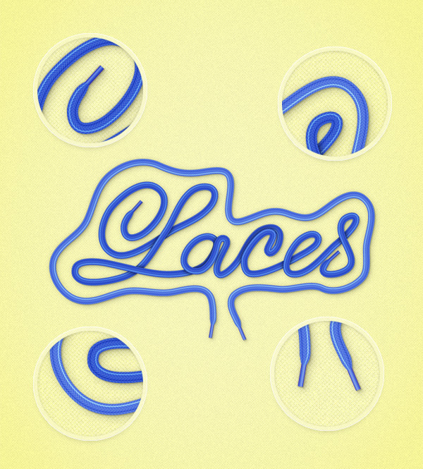 11 Create a Shoe Lace Text Effect in Illustrator